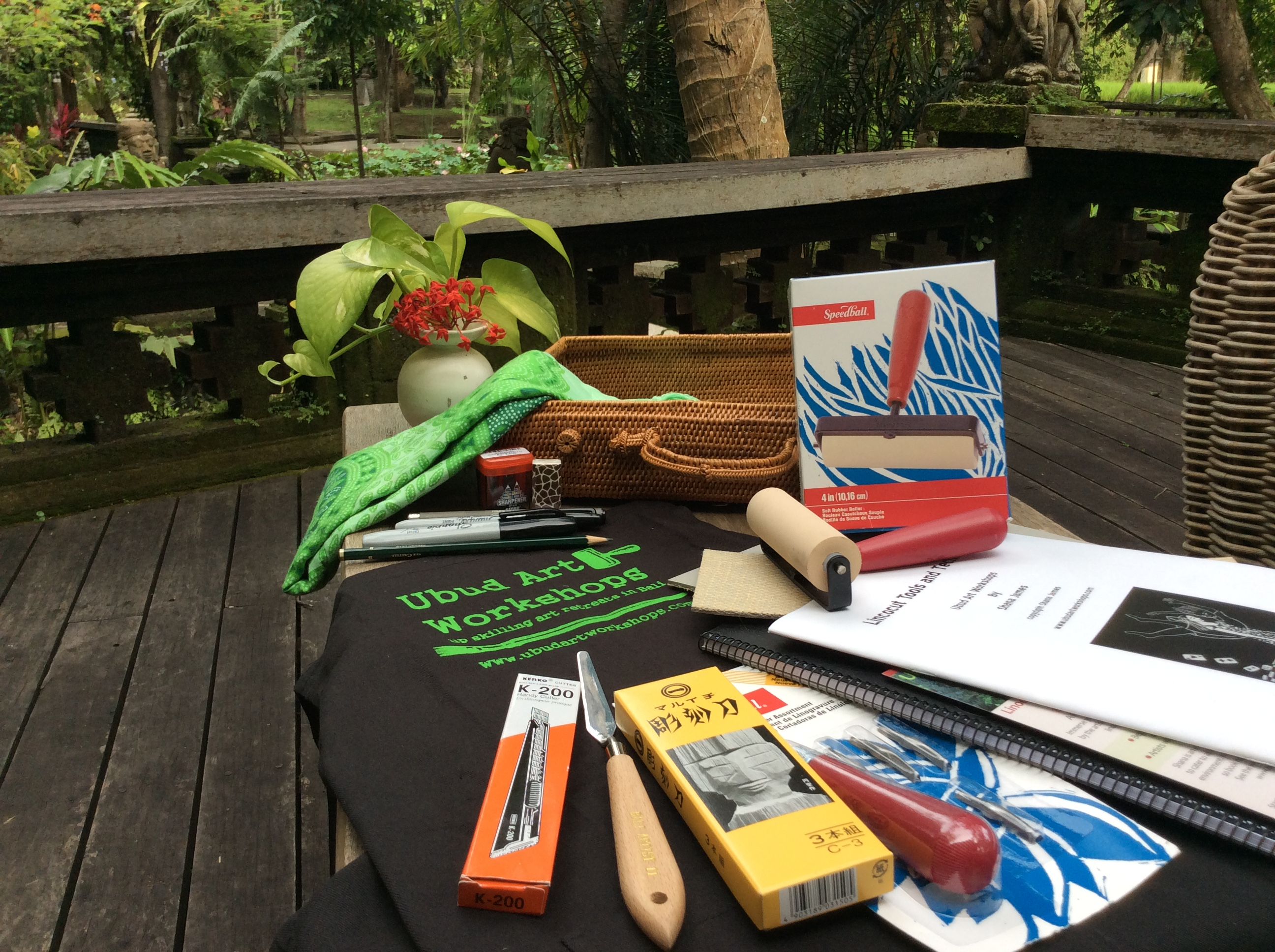 Every participant receives this beautiful materials kit to take home as part of the workshop.